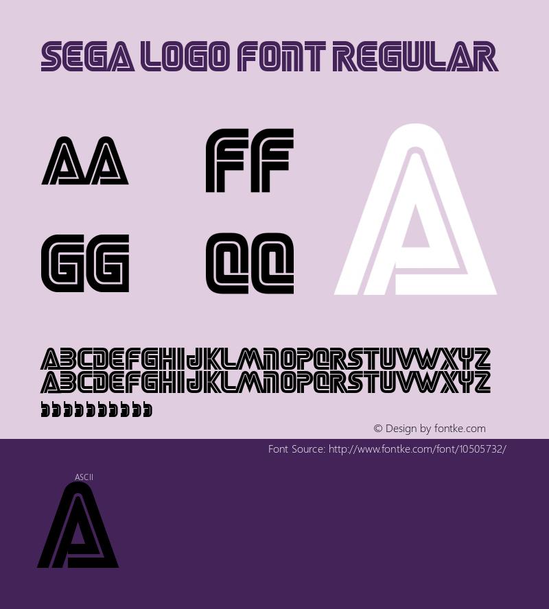 sega logo font regular 001.000样张图片