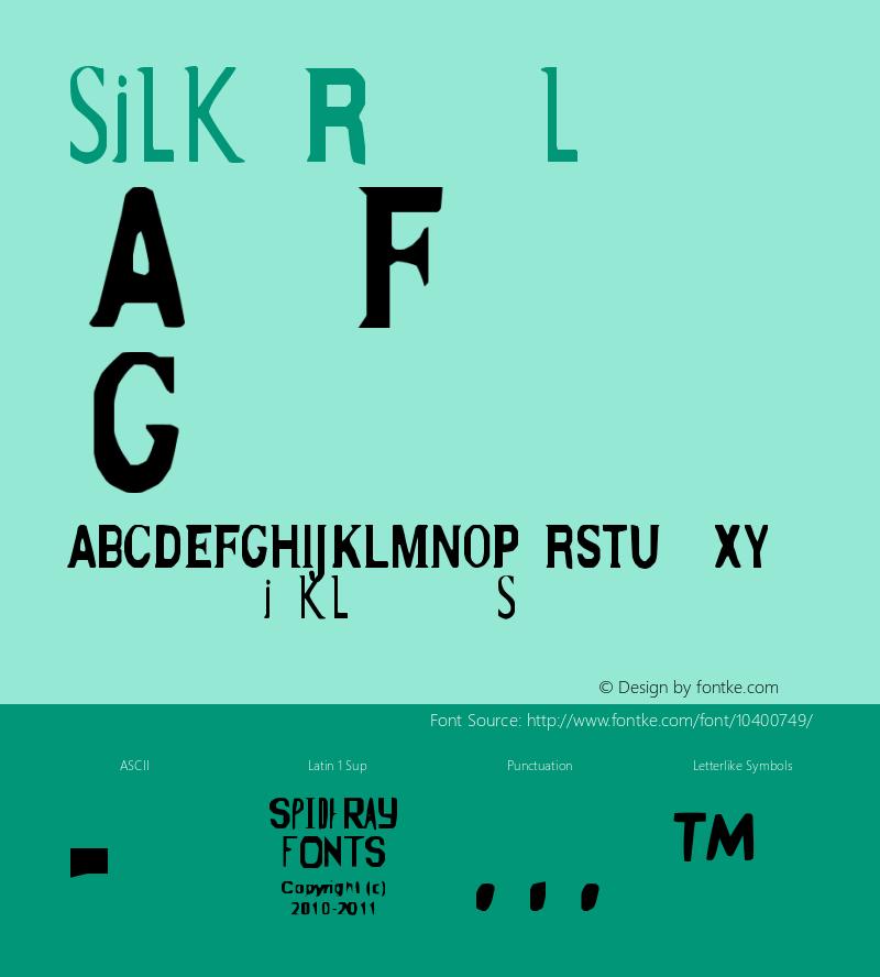 silk regular version 1.001图片样张
